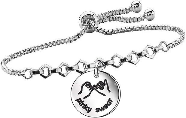 Emerald Park Jewelry Pinky Swear Promise Snake Chain Charm Bracelet
