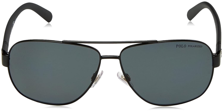 0934512f8ae Amazon.com  Polo Ralph Lauren Men s 0ph3110 Polarized Aviator Sunglasses  demiglos black 60.0 mm  Clothing