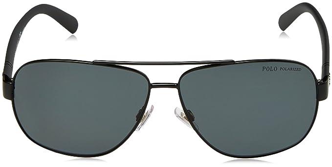 bc3f45759b5 Amazon.com  Polo Ralph Lauren Men s 0ph3110 Polarized Aviator Sunglasses  demiglos black 60.0 mm  Clothing