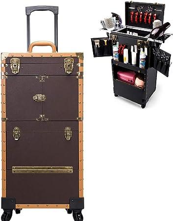 Wensa Carro de Ruedas de Maquillaje Caja de Herramientas de cajones de Gran Capacidad para salón de Belleza para Maquillaje Organizador Maquillaje Belleza Estuche de uñas Cosméticos Trolley Bag Box: Amazon.es: Hogar