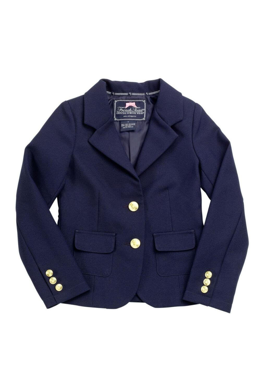 French Toast Little Girls' Dress Blazer, Navy, 4