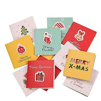 YeahiBaby 96 Piezas Tarjeta de Felicitación de Navidad de ...