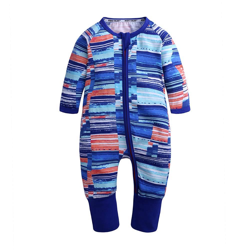 Kids Tales Baby Girls Long Sleeve Zipper Romper Baby Plant Print 1 Piece Pajama Fuzhou Shang Ku Trade Co. Ltd.