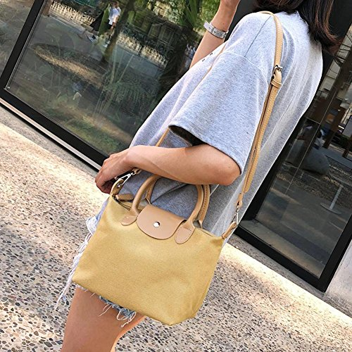 Shopping Shoulder Bag Totes Canvas Casual Yellow Messenger Women Ecotrump Handbag Crossbody wHaq1nx