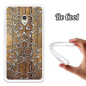 Becool®- Funda Gel Flexible para Alcatel OneTouch Pixi 4 5.0 4G, Carcasa TPU fabricada con la mejor Silicona, protege y se adapta a la perfección a tu Smartphone y con nuestro exclusivo diseño. Silver Art