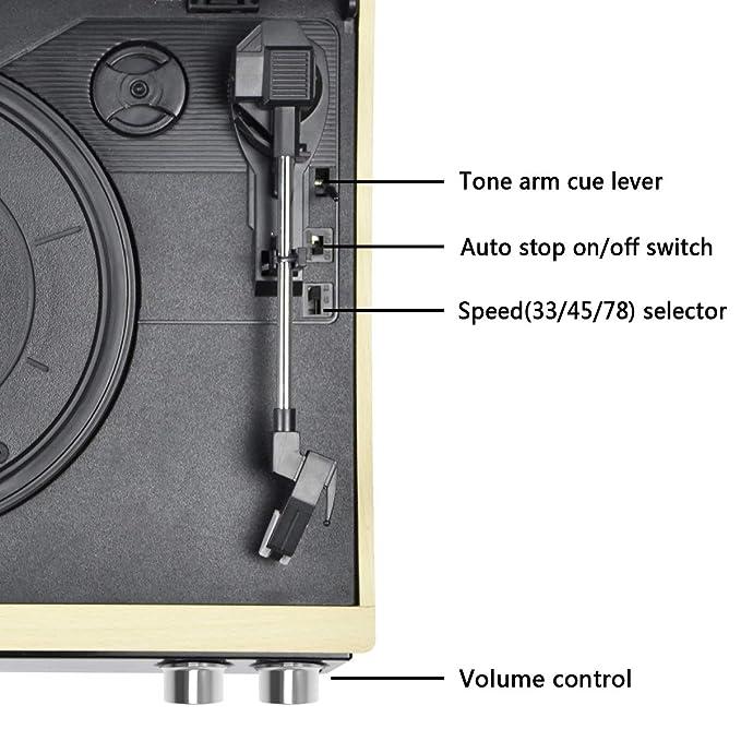 Amazon.com: HOFEINZ - Tocadiscos de 3 velocidades con ...