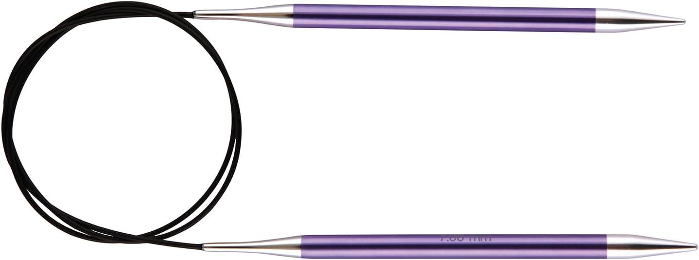 Multicolore 40 cm x 2 mm KnitPro-Ferri da Maglia circolari fissi Zing Alluminio