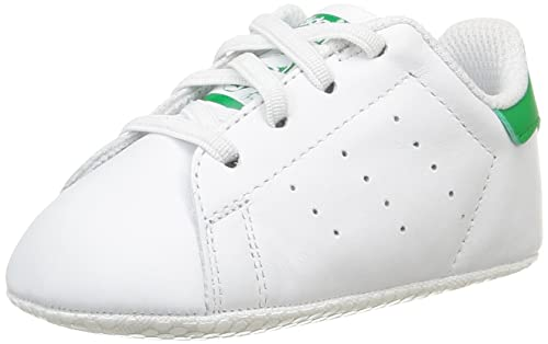 Amazon.com | adidas Originals Stan Smith Crib White/Green Leather Baby Soft Soles | Shoes