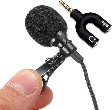 micrófono externo omnidireccional Jack 3.5 mm + adaptador para ...