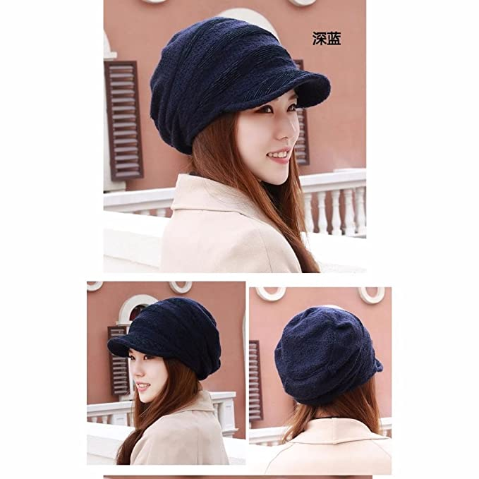 38bf7c4174c LIUXINDA-MZ Hat female plus velvet thick autumn winter ear hat knitting hat  knitting hat thick cycling cap large