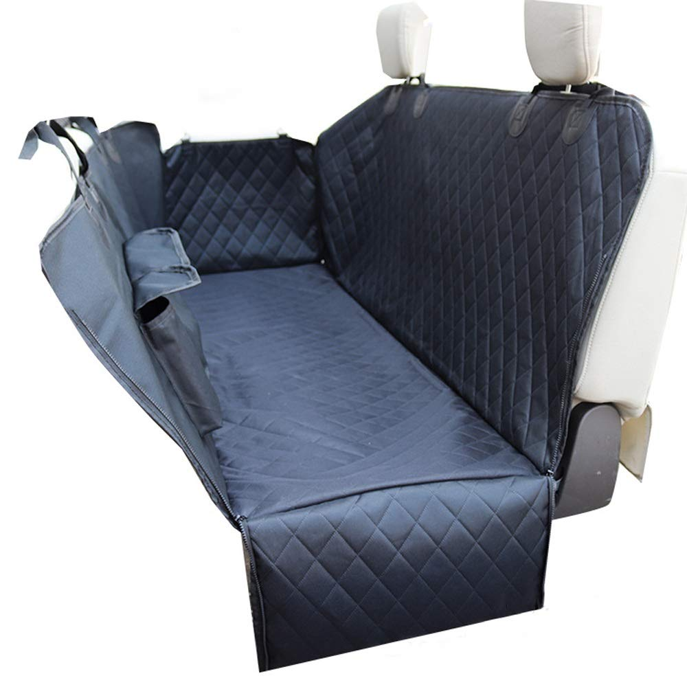 REMIGHTELY BRIGHT Dog Mat Car Rear Seat Pet Mat Waterproof Non-slip Storage Bag Seat Predection Mat