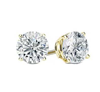 Fine Jewelry Forever One 2.0 Ct Round Diamond 14k White Gold Screw Back Stud Earrings Beautiful In Colour