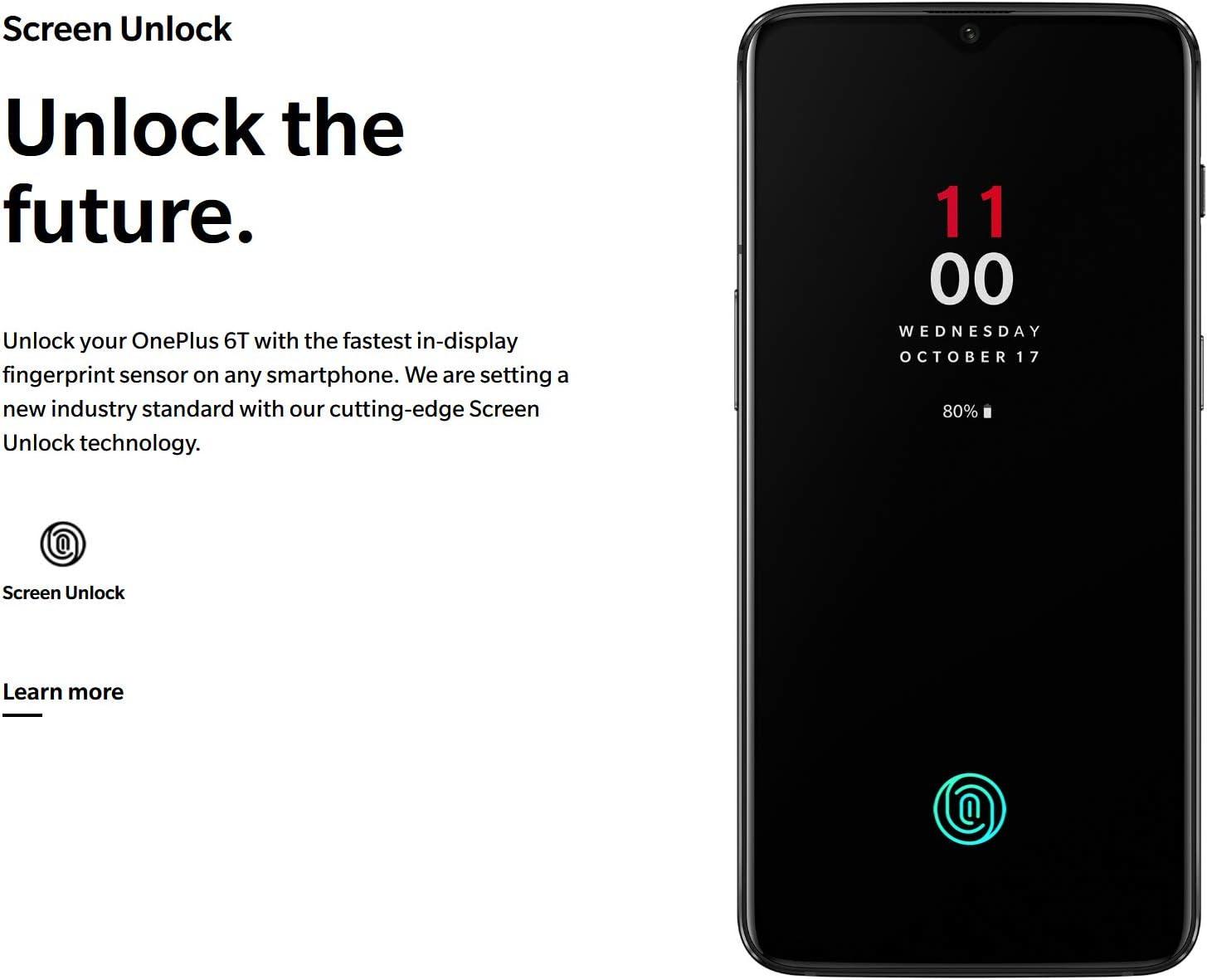 OnePlus 6T A6010 McLaren Edition 256GB Storage + 10GB Memory ...