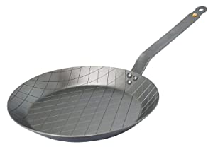MINERAL B Round Carbon Steel Steak Fry Pan 11-Inch