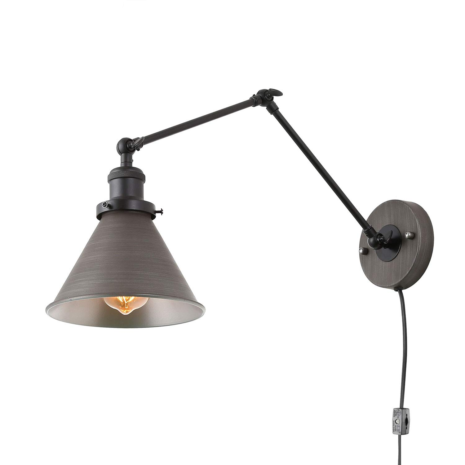 Lnc Swing Arm Wall Lamp Adjustable Wall Sconces Plug In Sconces Wall Lighting