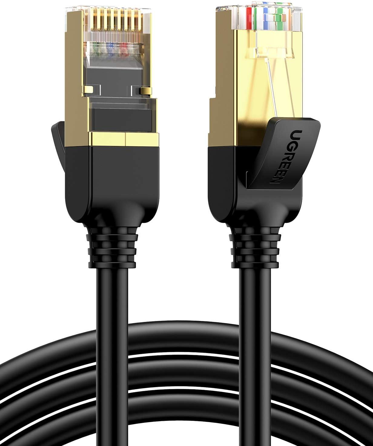 PC Router Laptop Ethernet Cable RJ45 Cat7 LAN Cable STP RJ 45 Flat Network Cable Patch Cord for Modem Patch Panel TV