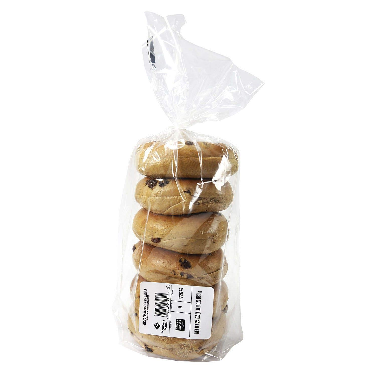 Member's Mark Cinnamon Raisin Bagels 6 ct. (pack of 3) A1