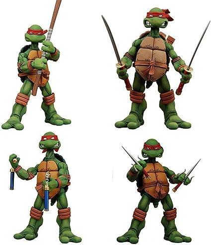 Amazon Com Htqing Teenage Mutant Ninja Turtles Raphael A Set Of 4 Boxed Figma Figure Toys Games
