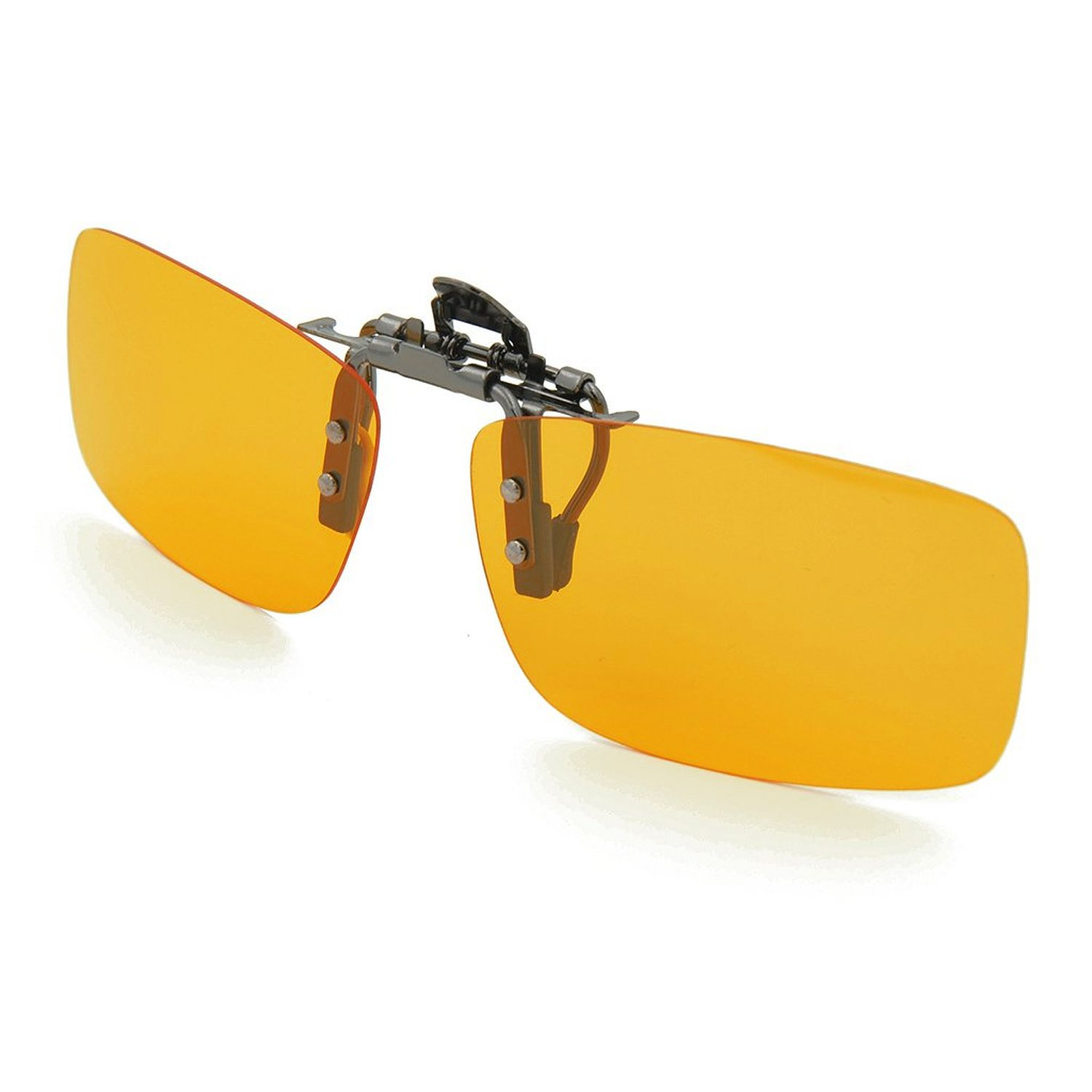 Enem Brownish - Yellow Night Vision Polarized Clip-on Flip-up Driving Sunglasses (Premium Quality)