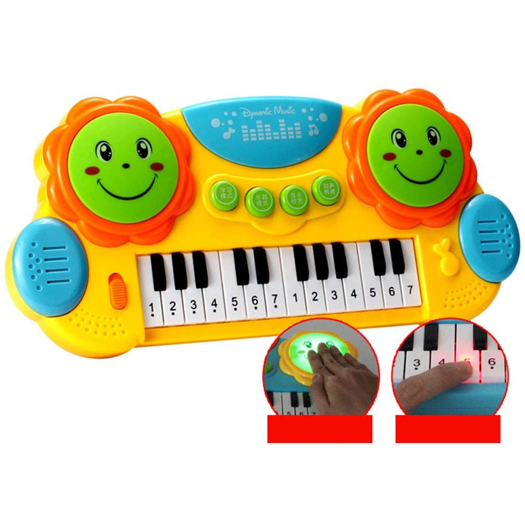 Shisay Sound and Light Music Education Keyboard 24-Key Childhood Education Multi-function Electronic Instrument Pat Drum Toy Infant Early Educational Gifts 3 year and up (24-Key Piano) by Shisay (Image #2)