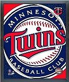 "Minnesota Twins MLB Team Logo Photo (Size: 12"" x 15"") Framed"