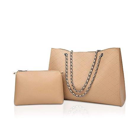 NICOLE   DORIS Borsa a tracolla moda donna 2 pezzi borsa grande Donne  Spalla Borsa borse 13c7d5aed60