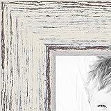 ArtToFrames 20x30 inch Eggshell Rustic Barnwood Wood Picture Frame, WOM0066-1343-YWHT-20x30