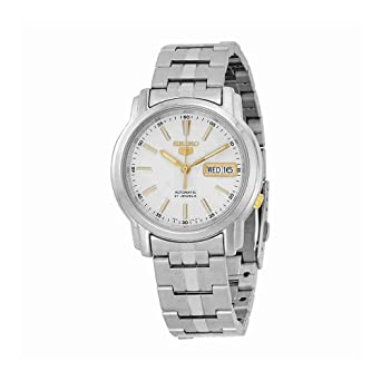 Seiko Silver Dial Stainless Steel Mens Watch SNKL77 by Seiko Watches