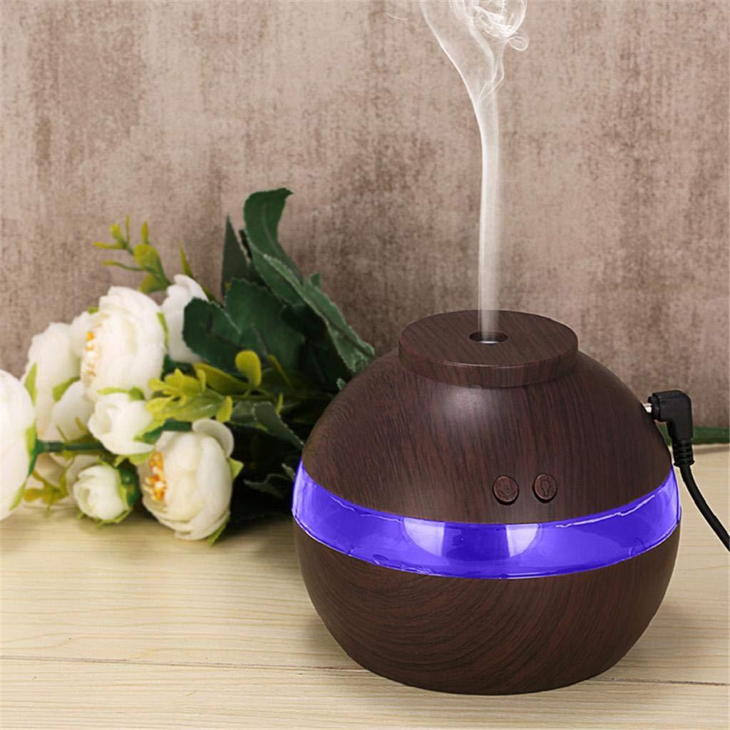 QUICKLYLY Humidificador Aromaterapia Ultras/ónico,Led Atomizador Difusor De Aceites Esenciales,Purificar El Aire Y Mejorara Aromatherapy Aroma Esencial Aromaamarillo