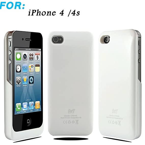 lowest price 8eb6a a4bc8 Liying® Brand New High Capacity 2200mah External Battery Charger Case Cover  - For Iphone 4/4s (Black)