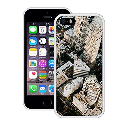 Stadt-Wolkenkratzer | Handgefertigt | iPhone 5 5s SE | Weiß Hülle