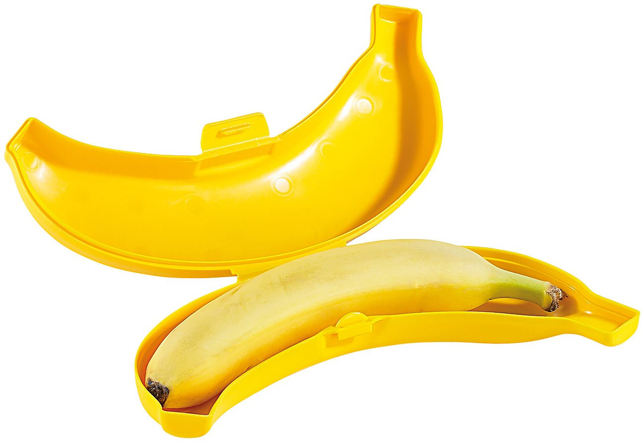 BanaBox Contenitore per banana a forma di banana, 1 pezzo