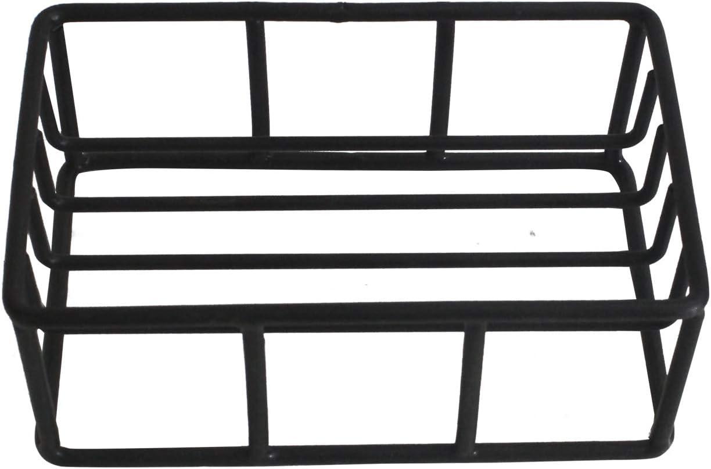 12,7 cm x 8,25 cm x 2,54 cm savon baignoire brosse /éponges douche NIRMAN Porte-savon rectangulaire rustique en fil de fer pour /évier