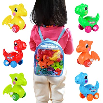 Dinosaur Toys for 3 Year Olds, 6-Pack Wind-up Pull-Back Amazon.com: