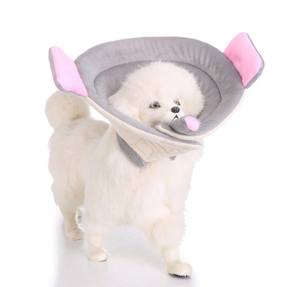Cutepet Suave Collar De Perro Gato Mascota Recuperación De Protección Cono Cuello Collar Ajustable Modelado del Elefante FY-920347,S: Amazon.es: Deportes y ...