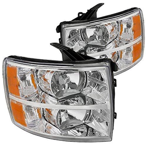 Spec D Tuning 2LH SIV07 RS Silverado Headlights