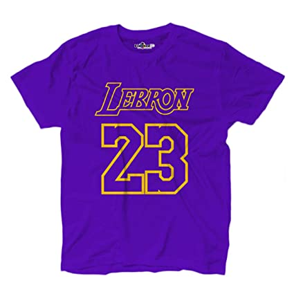 00620583d4dc KiarenzaFD T-Shirt Basket Lebron King James 23 Los Angeles All Star  Basketball Purple
