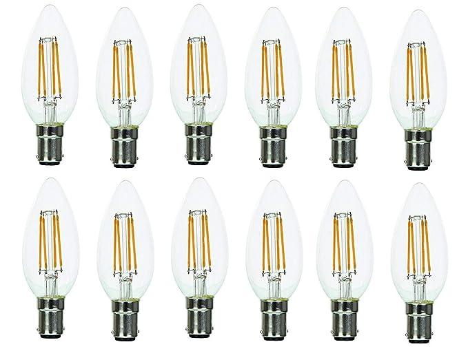 Supacell – Pilas AA bombillas LED de Filamento – Pack de 12 – B15/SBC