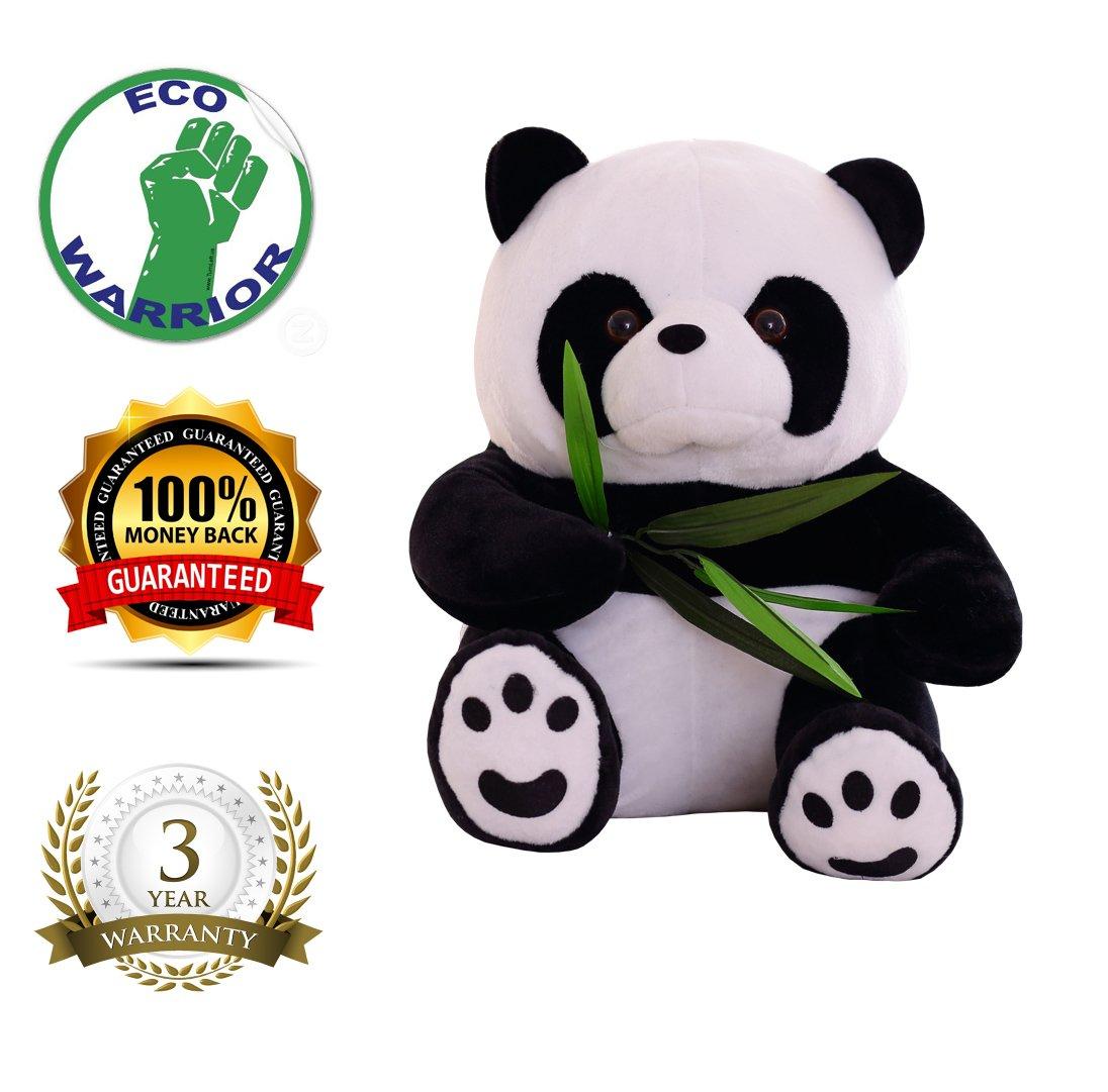 Cute panda peluche cuscino peluche, bambole di bambini panda Eat Bamboo leaves 11,9 cm, regalo di compleanno natale per bambino neonato bambino ragazzo ragazza di Maxyoyo, Panda, 23 cm