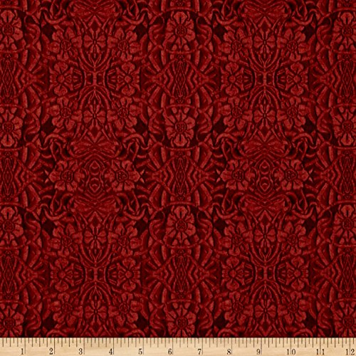 Longfellow Tooled Leather Old Red Fabric By The Yard