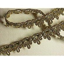 """5/8""""wide By 12 Yards ~ Fancy Metallic Gold Passementerie Lace Gimp Trim Renaissance Costumes"""