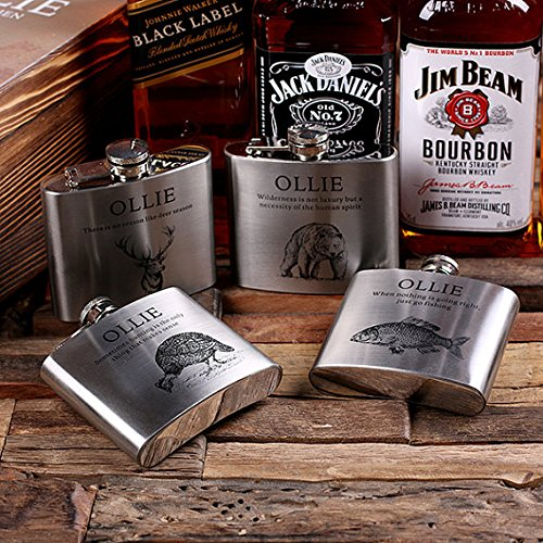 Flasks with Poker Cards, Dice Gambling Gift Sets_Hunter_Small