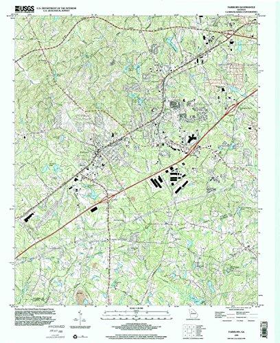 Fairburn GA topo map, 1:24000 scale, 7.5 X 7.5 Minute, Historical, 1999, updated 2002, 26.9 x 22 IN - Tyvek