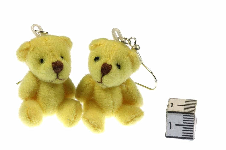 oso niños joyería osito de peluche a mano Pendientes bisutería
