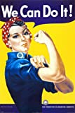 Laminated We Can Do It! (Rosie the Riveter) Mini Poster by J. Howard Miller 16 x 20in