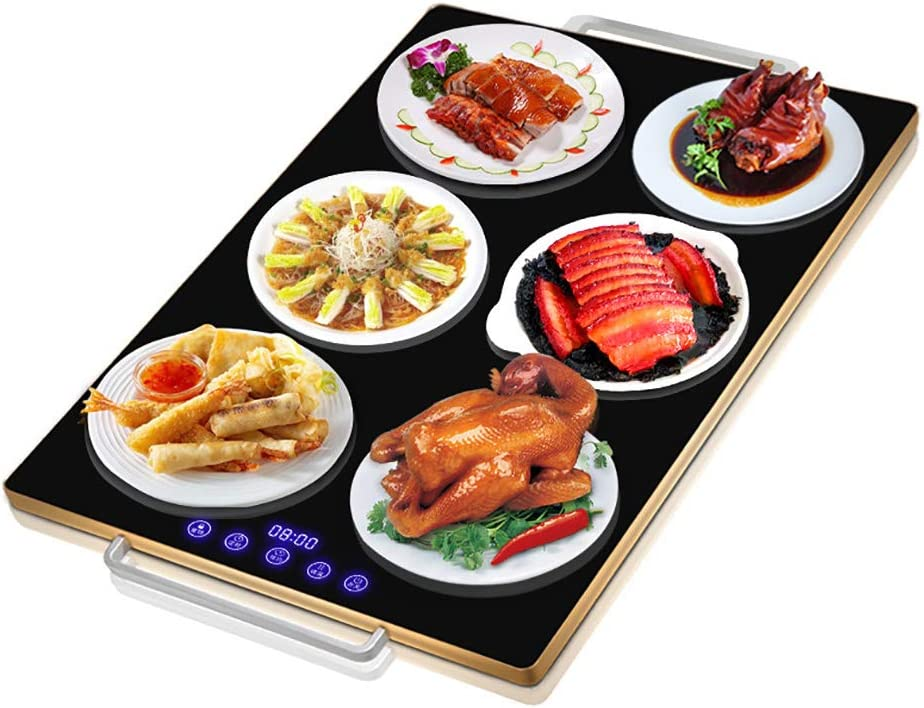 Multifunctional Household Food Warmer, Intelligent Meal Heating Insulation Board, with Easy-moving Handle, Waterproof and Easy to Clean, 60×40cm