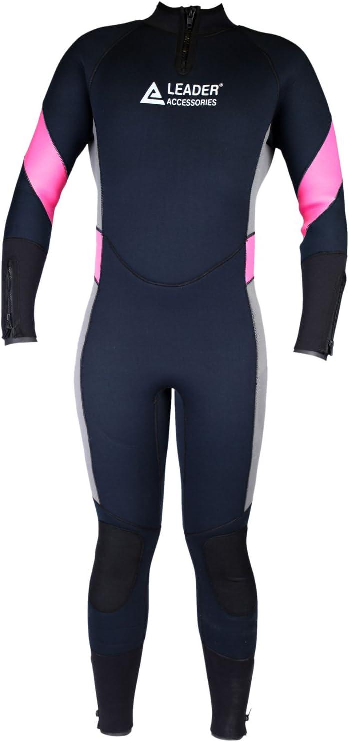 Leader Accessories Women s 5mm Black Pink Gray Wetsuit for Scuba Diving Fullsuit Jumpsuit