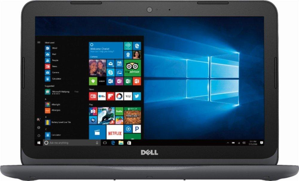 2018 Dell Inspiron High Performance Laptop, AMD A6-9220e processor 2.5GHz, 11.6″ HD Display, 4GB DDR4 SDRAM, 32GB eMMC Flash Memory, Windows 10 (Gray)