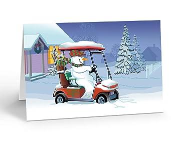 Amazon.com: Muñeco de nieve en carrito de golf Holiday ...