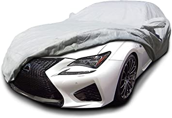 Black 2015 LEXUS RC350 RC-F Breathable Car Cover w//Mirror Pockets